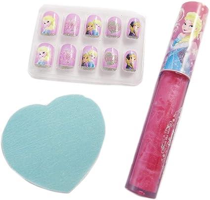 Frozen [q3899] – Estuche de maquillaje Frozen – Reine Des Neiges rosa azul (falso uñas & gloss): Amazon.es: Belleza