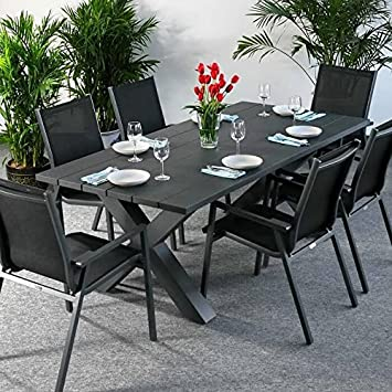 Amazon De Martha Tisch 6 Stuhle Grau Gartenmobel Set Mit