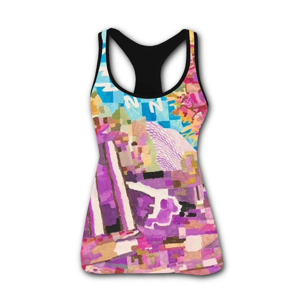 Autistic Children's Color Painting 3D Print Casual Custom Sleeveless Tanks Vest T-Shirt Women Girl L