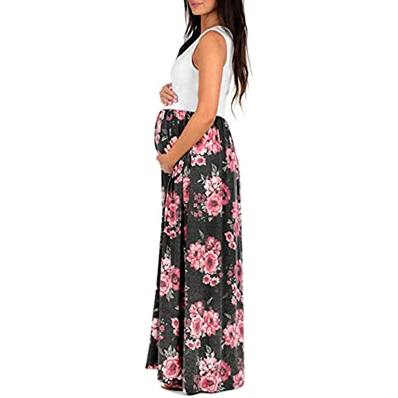 Gusspower Vestido largo Mujeres Vestido, largo de encaje de mujer embarazada, de maternidad Apoyos