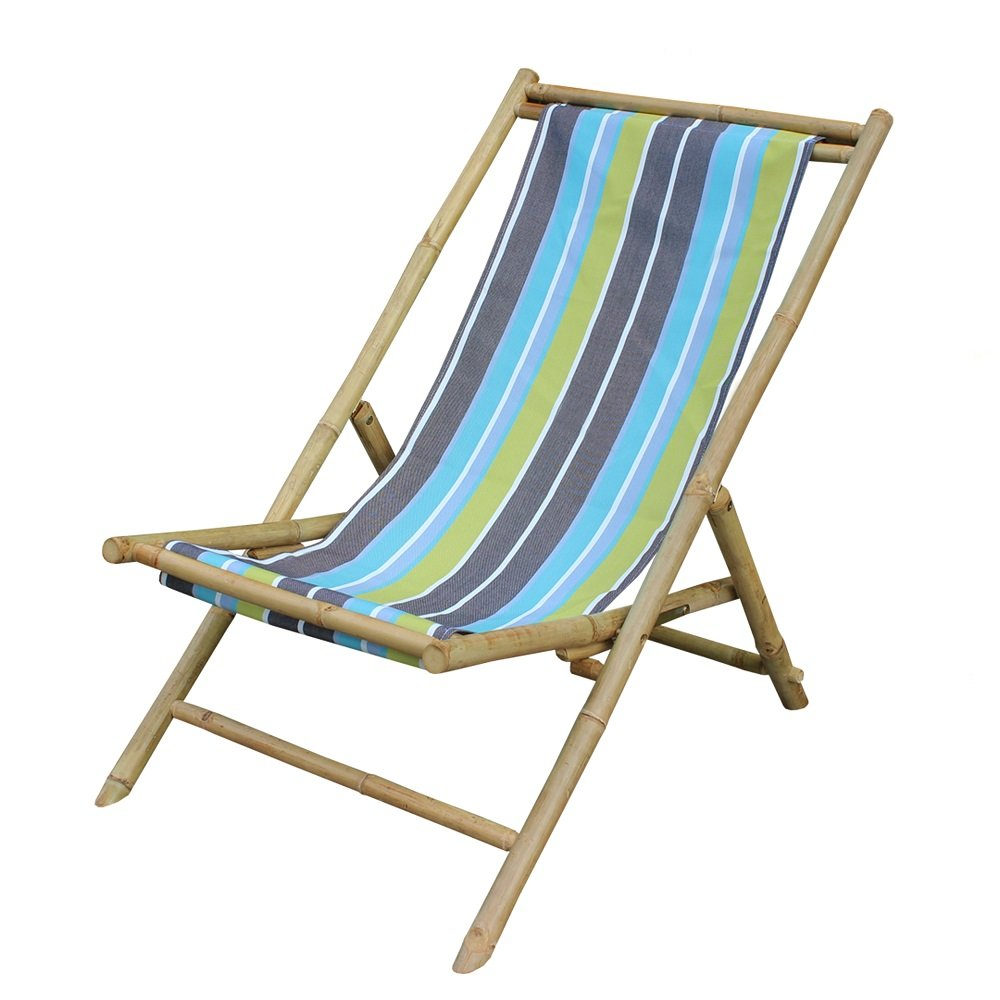Amazon com  Zew Handcrafted Foldable Bamboo Portable Garden Sling Chair  with Canvas  37  L x 24 W x 33 H  Green Stripe  Kitchen   Dining. Amazon com  Zew Handcrafted Foldable Bamboo Portable Garden Sling