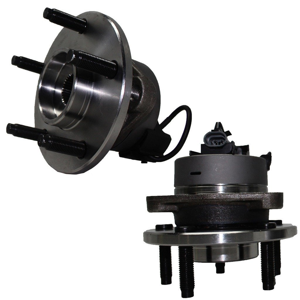 Detroit Axle 5-Lug w/ABS Front Driver and Passenger Side Wheel Hub and Bearing Assembly for - Cobalt, Pursuit w/ABS - 5 Lug Wheel and HHR w/ABS & Rear Drum Brakes