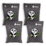 Activated Charcoal Bag, Nature Fresh Air Purifier Bag, Odor Absorber for Cars, Home, Bamboo Charcoal Air Purifying Bag, Car Freshener Bags, Charcoal Deodorizer, by Pureza, (4x200g)