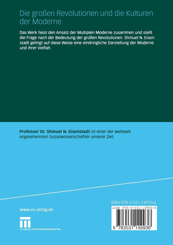 Die großen Revolutionen und die Kulturen der Moderne (German Edition ...