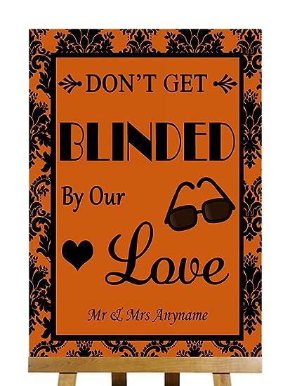 A3 color naranja negro gafas de sol Favor Cegado por el amor ...