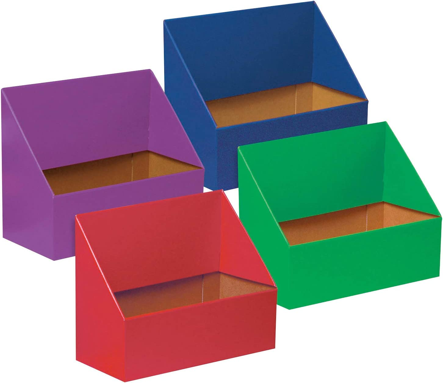 """Classroom Keepers Folder Holder Assortment, Assorted Colors, 9-3/4""""H x 12""""W x 5-3/4""""D, 4 Pieces"""