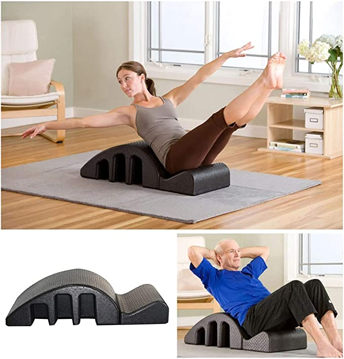 Black Foam Balanced Body Pilates Massage Table Adjustable Back Spine Posture Corrector for Yoga Room Indoor Gym Yoga Pilates Arc Spinal Aligner