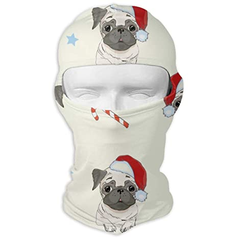 Astonishing Amazon Com Pug Dog Pattern Neck Scarf Sunscreen Hats Ski Machost Co Dining Chair Design Ideas Machostcouk
