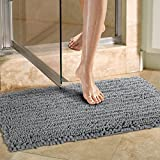 Norcho Non-slip Absorbent Multipurpose Mat Modern for Dog and Bathroom 20 inch by 31 inch Grey