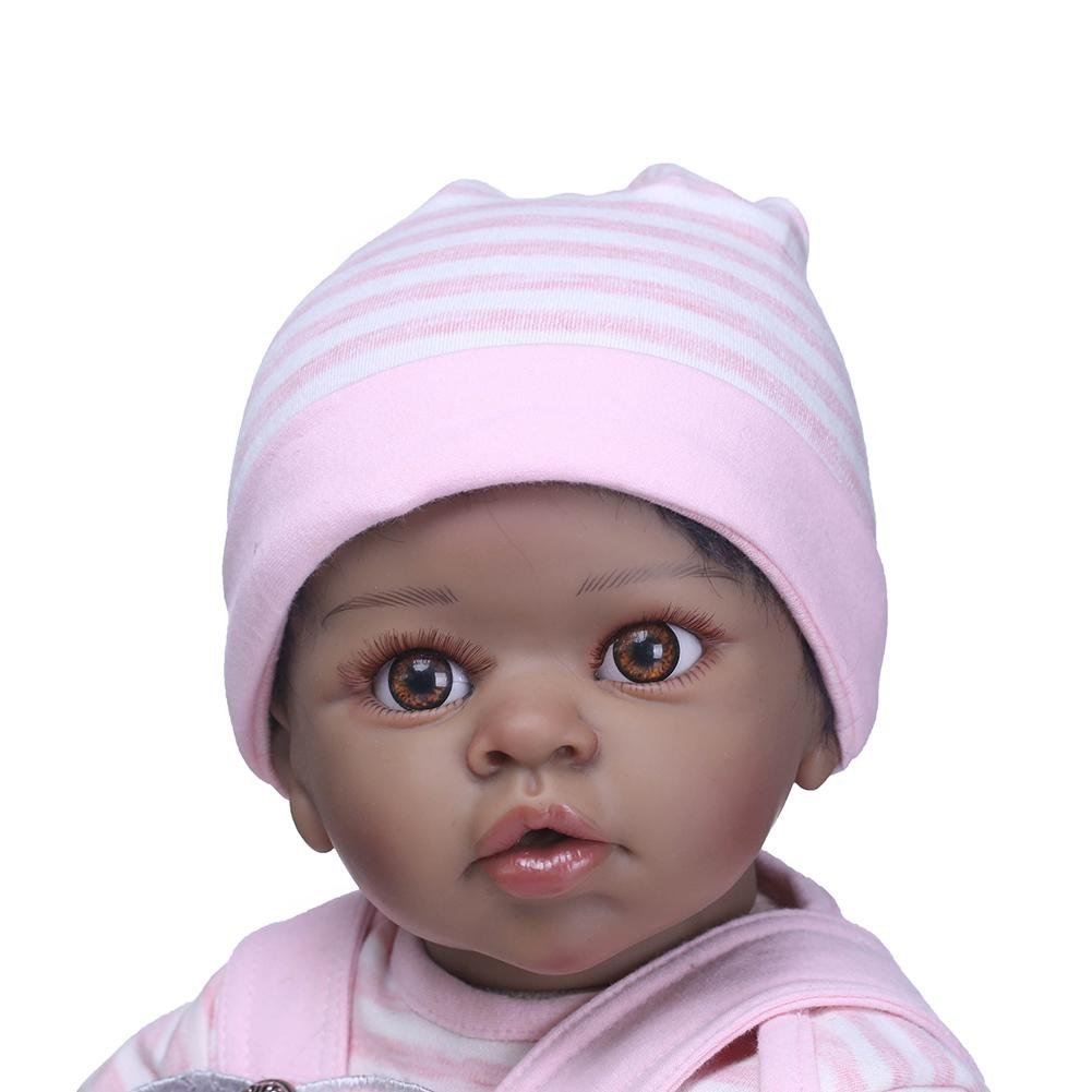 chinatera NPK Cute 22inch Soft Silicone Reborn Baby Doll Imitation Newborn Girl Toys by chinatera (Image #6)