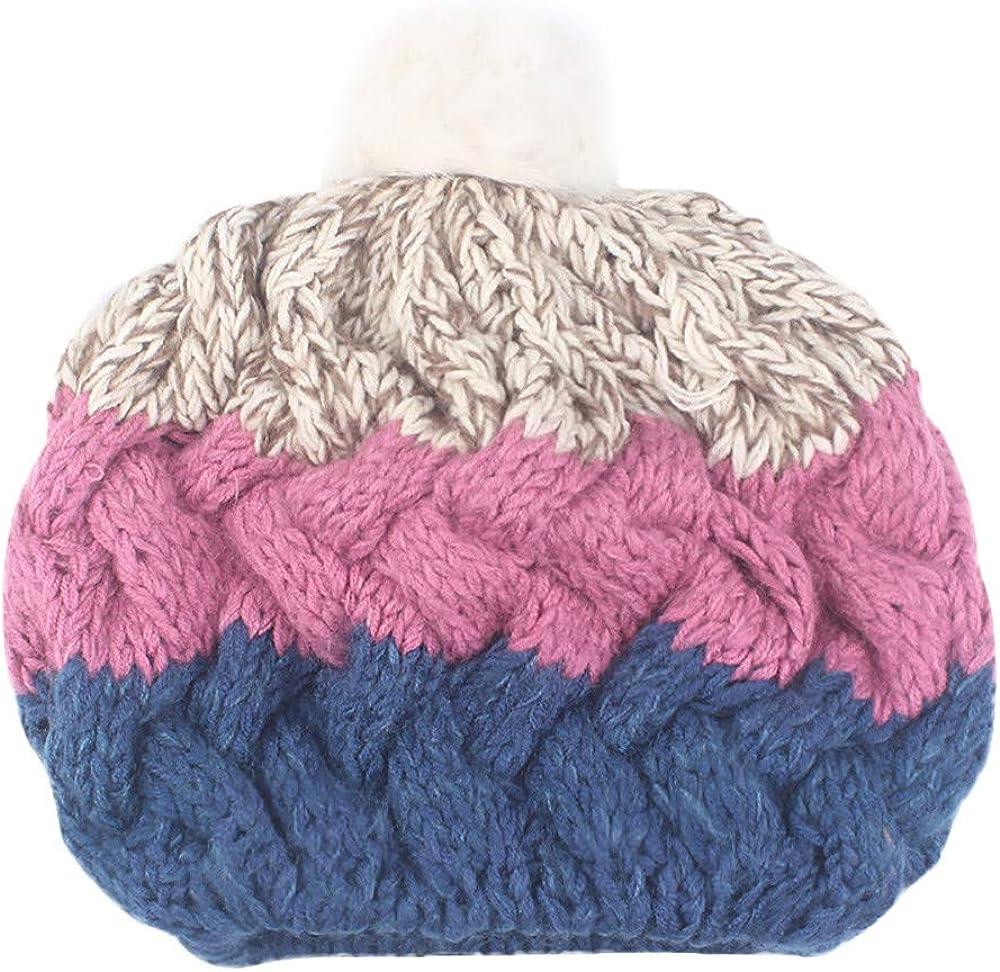 Boy Girl Winter Crochet Winter Wool Knit Ski Beanie Baggy Skull Slouchy Caps Hat