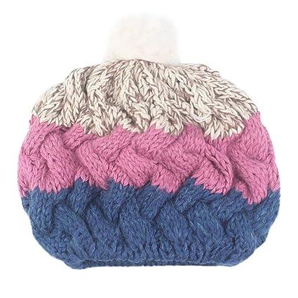 2c792c2d8e193 Image Unavailable. Image not available for. Color  SUKEQ Women Patchwork Beanie  Hat Winter Warm ...