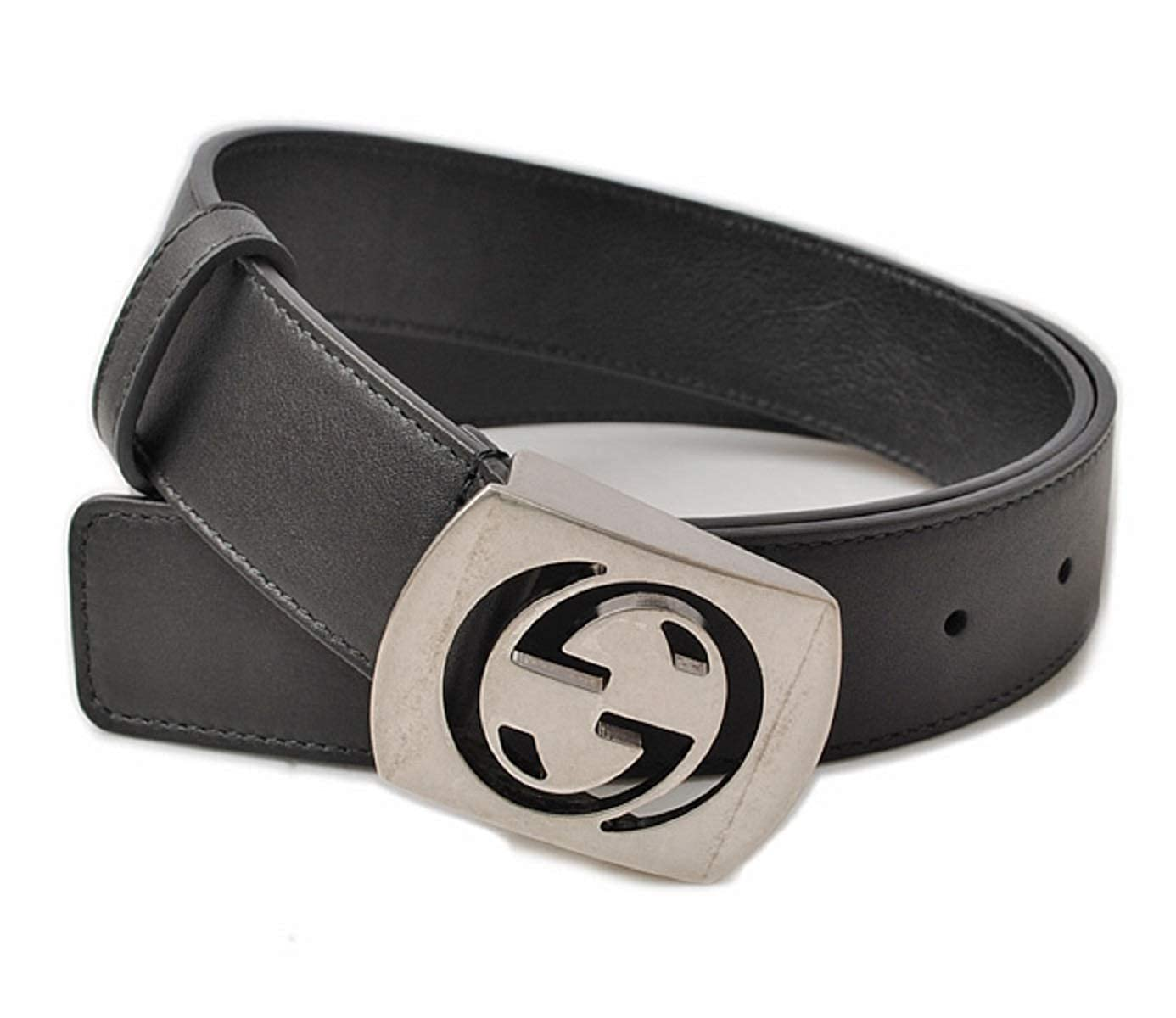 7d460d53f1b Amazon.com  Gucci Men s Cocoa Brown Leather Interlocking G Leather Belt  387031  Clothing