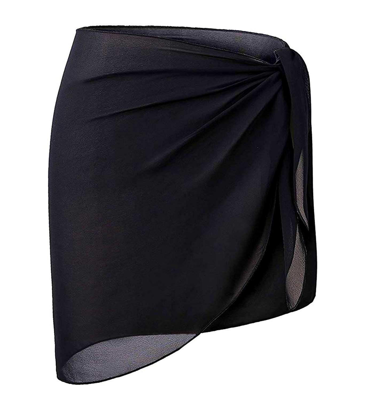B1blackshort OmicGot Women's Swimsuit Cover Up Beach Sarong Wrap Maxi Skirt