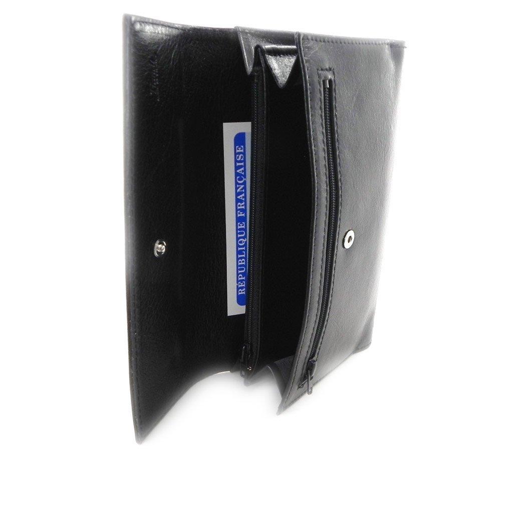 Wallet + checkbook holder leather 'Frandi' ecological york black. by Frandi (Image #8)