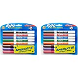 EXPO Low-Odor Dry aLngu Erase Markers, Fine Tip, Assorted Colors, 8 Count (2 Pack)