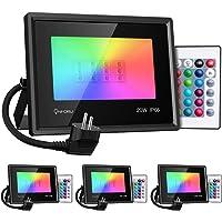 Onforu Foco RGB Led 20w (4 Pack), Foco