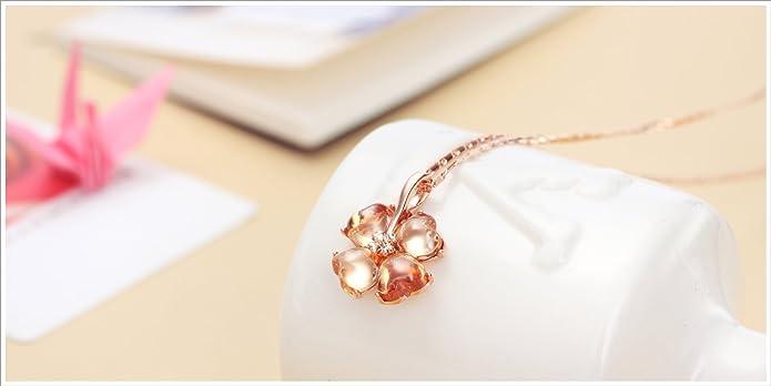 Modogirl Austrian Crystal Rose Gold Plated Women Leopard Pendant Necklace