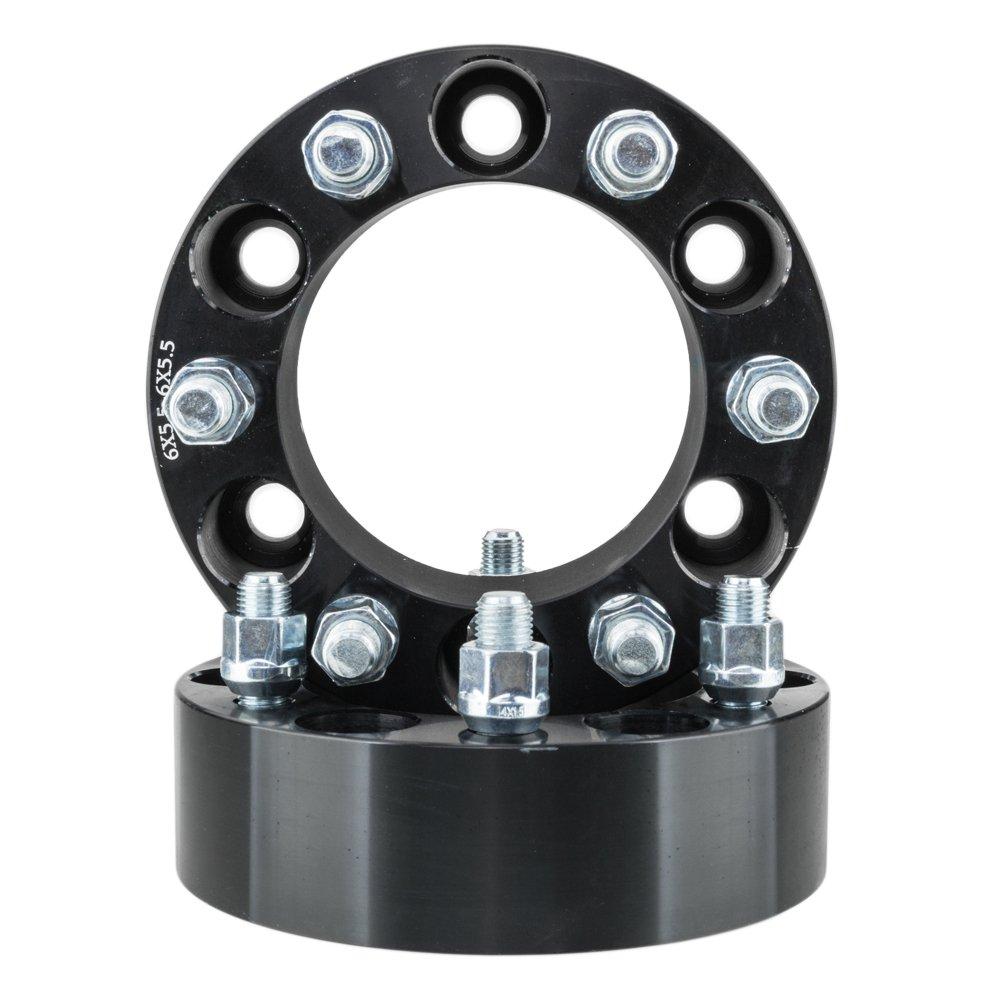2' 50MM Wheel Spacer 6x5.5/6x139.7 6Lug 108mm 14x1.5 For 2000-2014 GMC Yukon/Yukon XL 1500 Black Wheel Spacers Adapters (Pack of 4) Autoforever