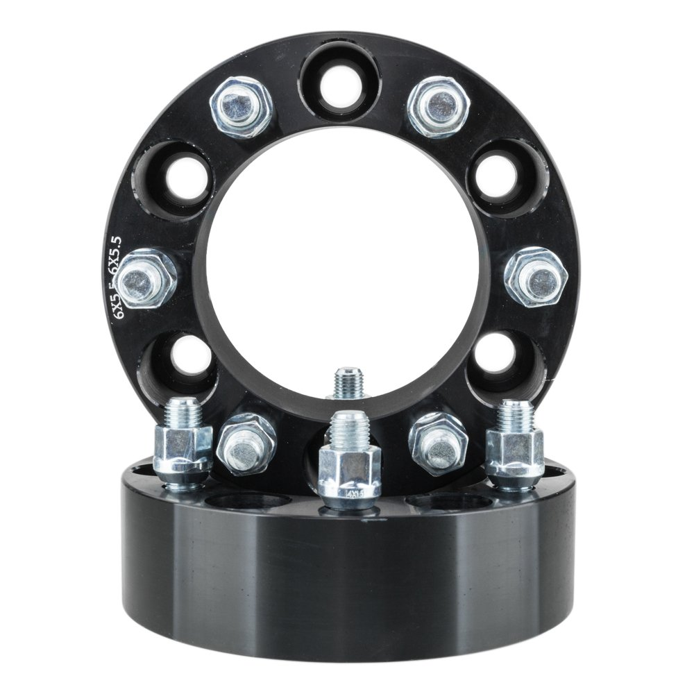 For Cadillac GMC Chevy Wheel Spacer 2inch 6Lug 6x5.5 Wheel Spacers Adapters 108mm 14x1.5 Fit 2000-2014 Chevrolet Tahoe Black (Pack of 2)