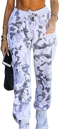 Las Mujeres Pantalones De Carga Streetwear De Tinte De ...