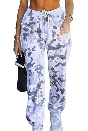 Las Mujeres Pantalones De Carga Streetwear De Tinte De Corbata ...