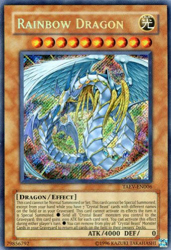 Yu-Gi-Oh! - Rainbow Dragon (TAEV-EN006) - Tactical Evolution - Unlimited Edition - Secret Rare