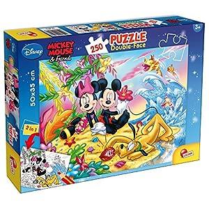 Lisciani Giochi 48076 Mickey Puzzle Doppia Faccia Plus 250 Pezzi