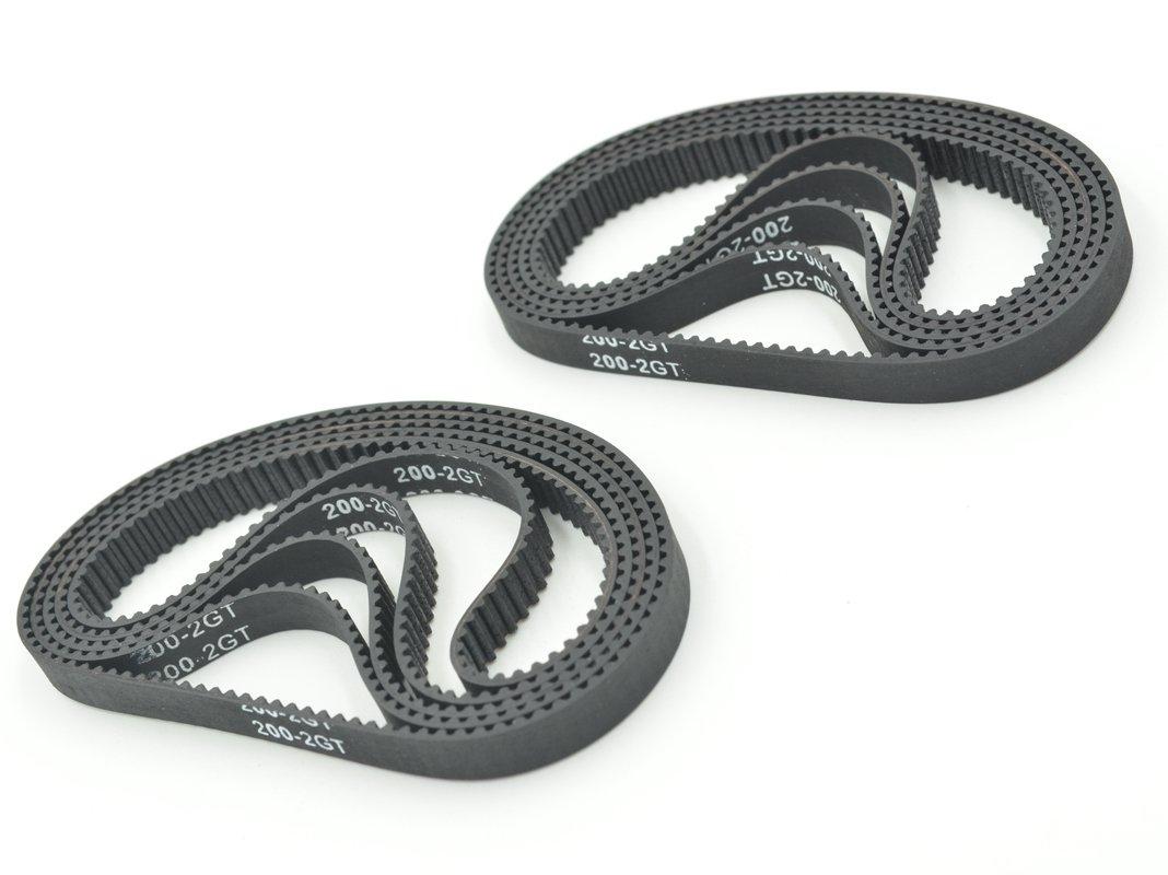 POWGE GT2 Timing Belt L=200mm W=6mm 100 Teeth Color Black Pack in Closed Loop Of 10pcs Ningbo Jiangbei Powge Transmission Component Co. Ltd