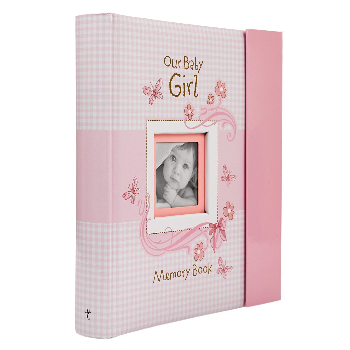 Christian Art Gifts Girl Baby Book of Memories Pink Keepsake Photo Album Our Baby Girl Memory Book Baby Book with Bible Verses, The First Year