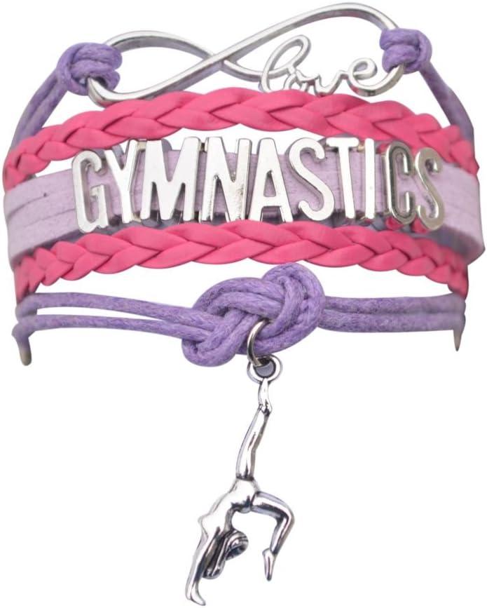 Infinity Collection Gymnastics Bracelet- Girls Gymnastics Bracelet- Gymnastics Jewelry for Gymnast, Gymnastic Coaches & Teams