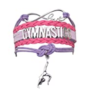 Infinity Collection Gymnastics Bracelet- Girls Gymnastics Bracelet- Gymnastics Jewelry for Gymnast, Gymnastic Coaches & Teams