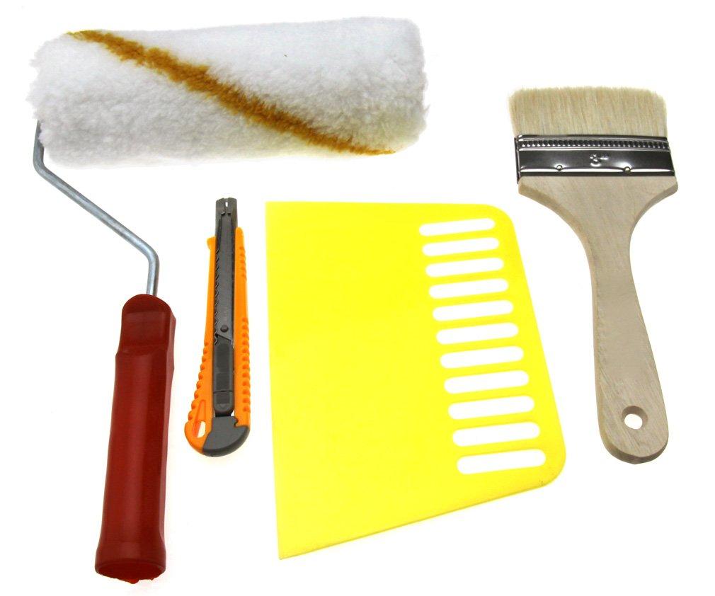 Seam Roller Smoother Paperhanging Brush 4pcs Wallpaper Hanging Tool Kit