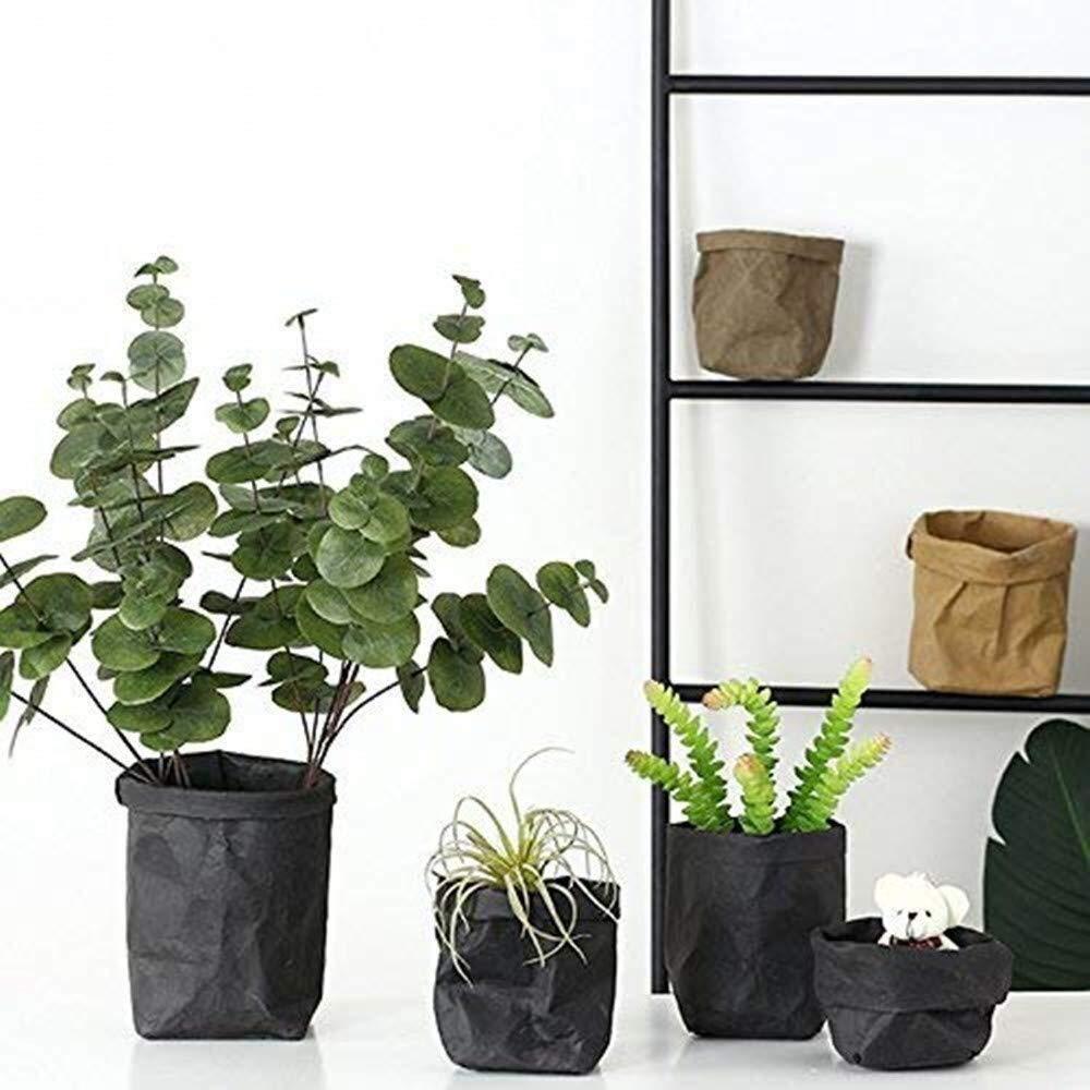 Sacchi per piante Sacchetti for la coltivazione di piante 3 fiori mini succulente in vaso sacchetti for asi sacchetto for organizzatore for articoli vari sacchetto multiuso lavabile in carta kraft