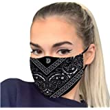 Kovaky Adult Repeatable Washable Face_Macks for Women Fashion Printing Outdoor Riding Quick-Drying Keep Bandanas
