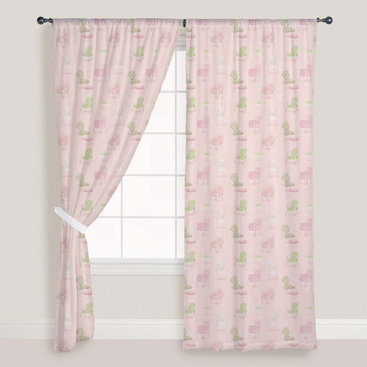 AZ Antique Armchairs Door & Window Curtain Satin 4feet x 10feet; SET OF 2 PCS
