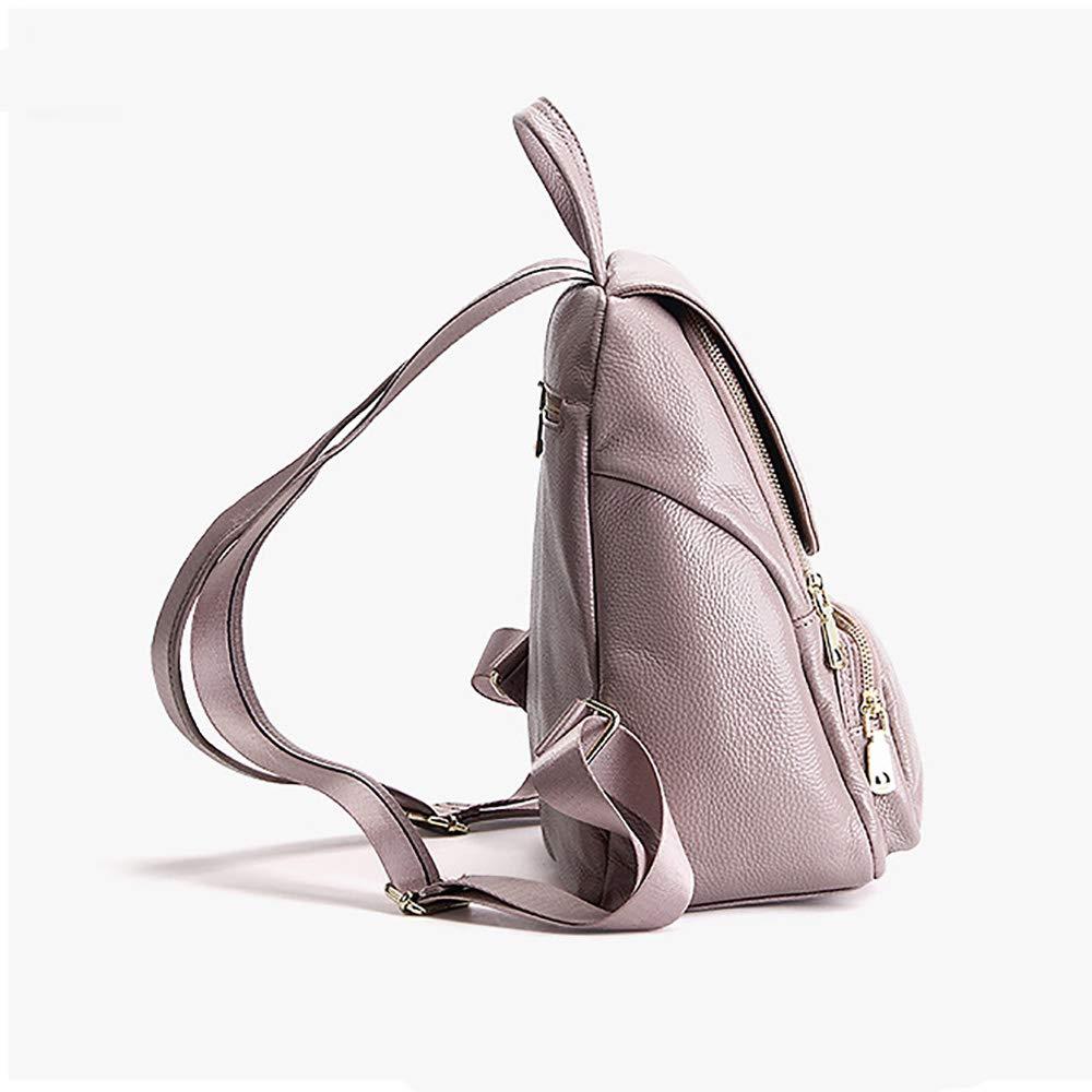 JulySeeYouz kvinnors läderryggsäck, lätt snygg ryggsäck för damer ryggsäck stöldskydd ryggsäck resa dagväska ryggsäck för resor/shopping/arbete/skola c