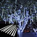 Outdoor Lights,LED E26/E27 Meteor Shower Rain Lights,Waterproof Garden Lights Snow Falling Raindrop Cascading light for Holiday Wedding Home Xmas Tree Decor 8 Pack