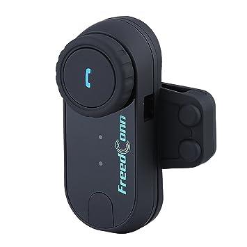 T-COM 1000M Bluetooth interphone Auriculares de casco de motocicleta Auriculares de intercomunicador FM radio