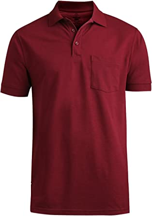 Edwards Garment Mens Big And Tall Soft Touch Blended Polo Shirt/_NAVY/_M
