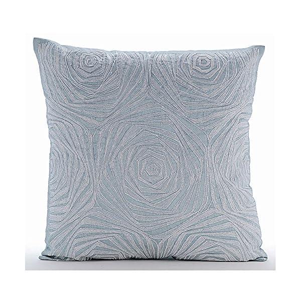 blue rose pillow