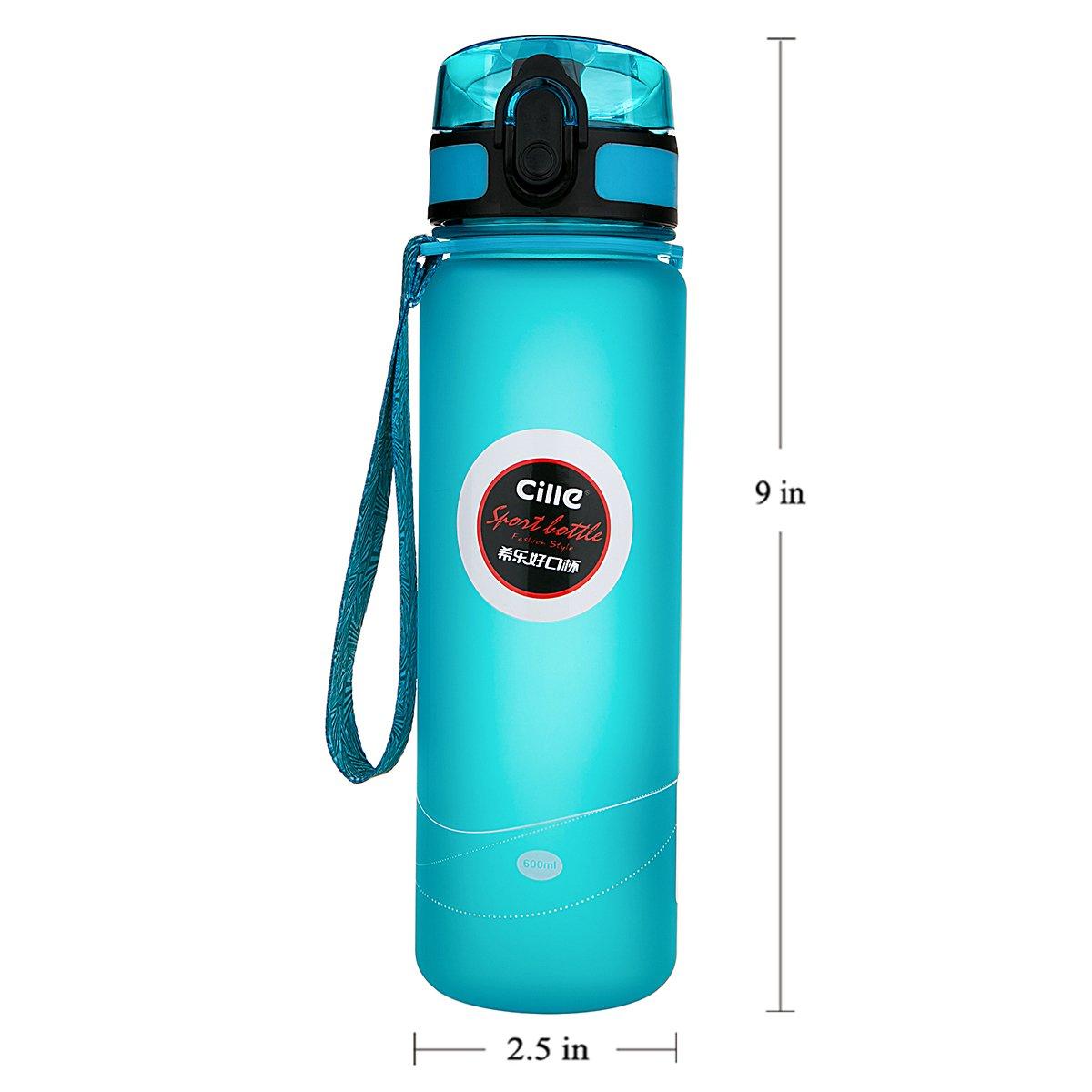 51e5d2957 Amazon.com   HGDGears Sports Water Bottle with Leak Proof Flip Top ...