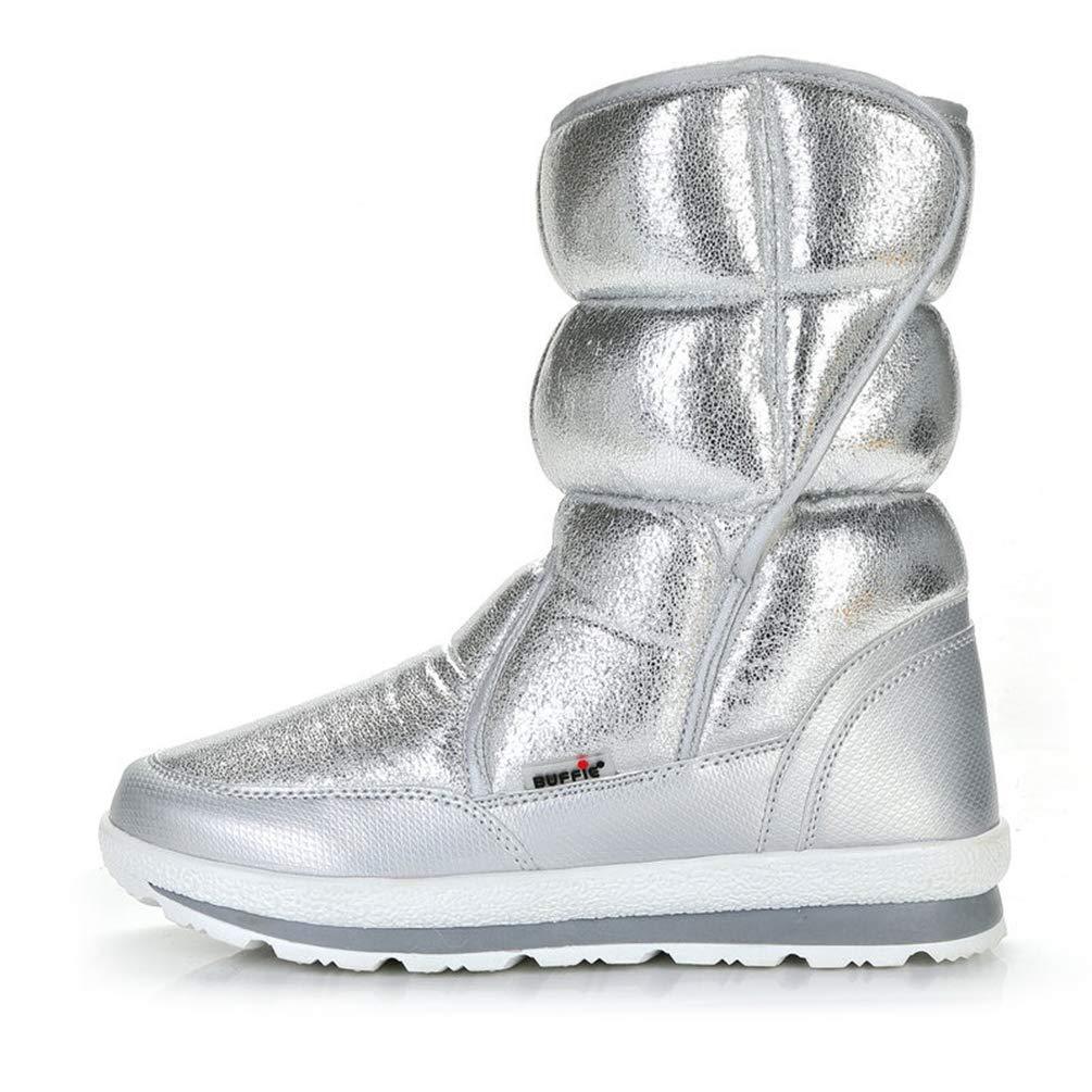 Winter Schnee Frauen Stiefel Pelz Einlegesohle Dame Warme Warme Warme Mode Slip On High Top Outdoor Turnschuhe Für Mode Mädchen f450e9