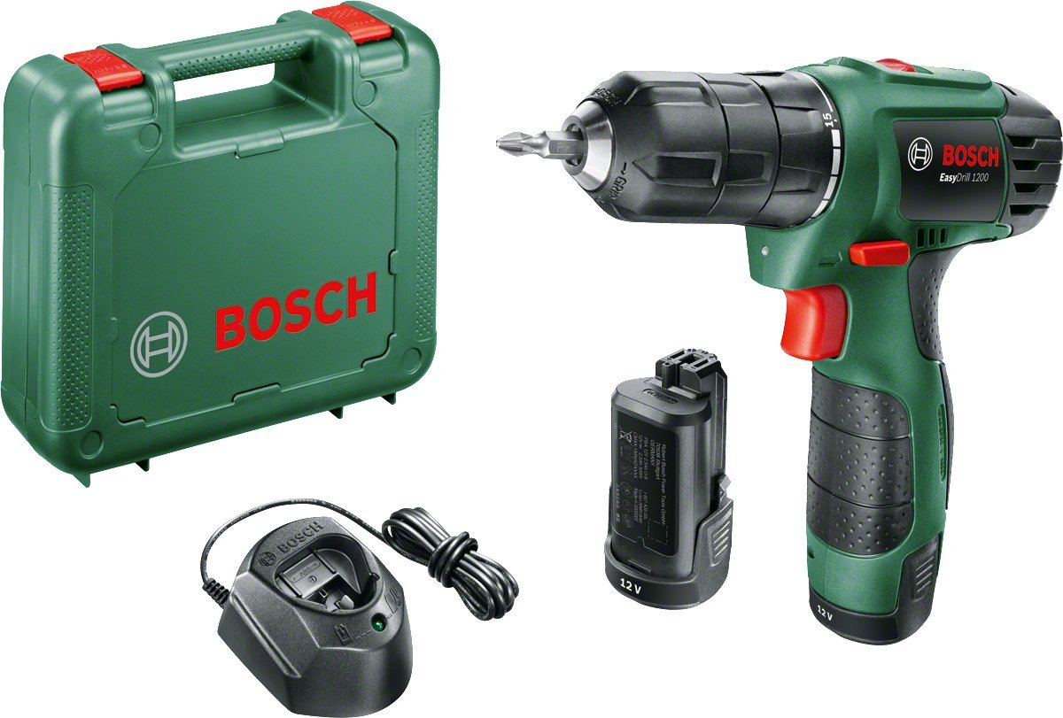 Bosch EasyDrill 1200 Cordless Drill/Driver with 12 V, 1.5 Ah 06039A2172
