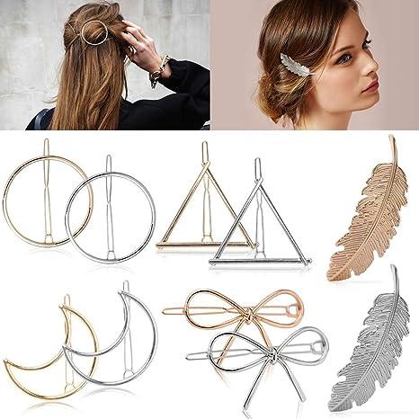 Black Geometric Hair Clip BB Hairpins Barrettes DIY Styling Tools Women Girls