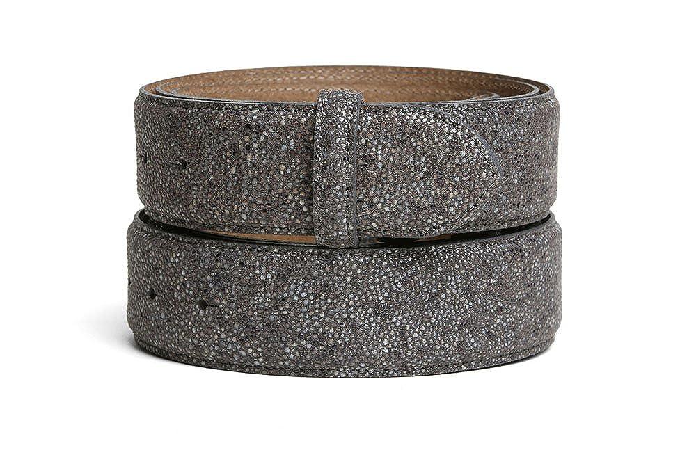 VaModa Belt, Cinturón en piel, modelo Miami, color gris, sin hebilla