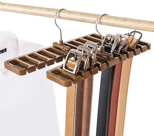 Liumei Organizzatore Con 10 Slot Per Cravatte Cinture Sciarpe In Plastica Robusta Con Gancio In Metallo Bianco Salvaspazio In Armadio Accessori Da Armadio Portacinture Amiralebsatte Com