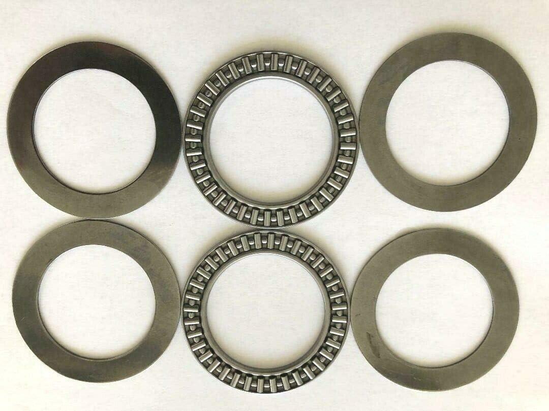 2 Pcs AXK4565 45x 65x 3 mm Thrust Needle Bearing with 4 Washers #BSSTM