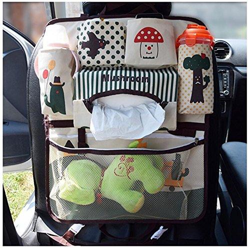 Gobuy Car Back Seat Storage Bag Oxford Fabric Pocket Baby Stoller Hanging Organizer