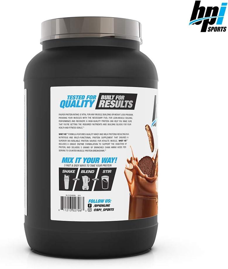 BPI Sports Whey HD - Polvo de proteína de suero, 798 g